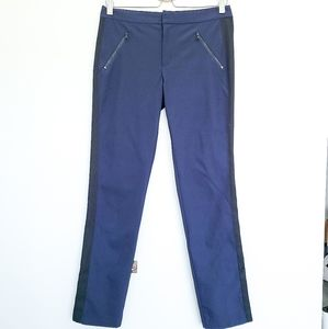 REBECCA TAYLOR Straight Leg Navy Blue Trousers 4